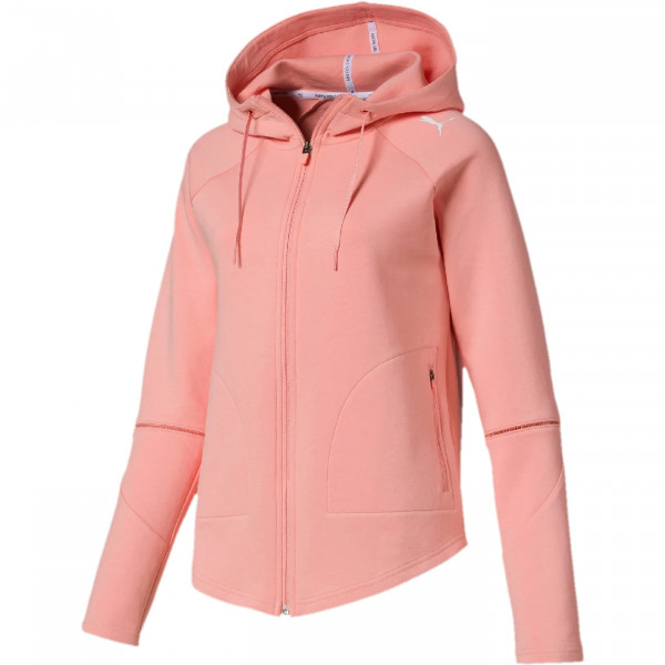 WOMENS EVOSTRIPE MOVE HOODED JACK (854184-019)